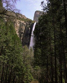 Yosemitefalls, Yosemite, Waterfall, California