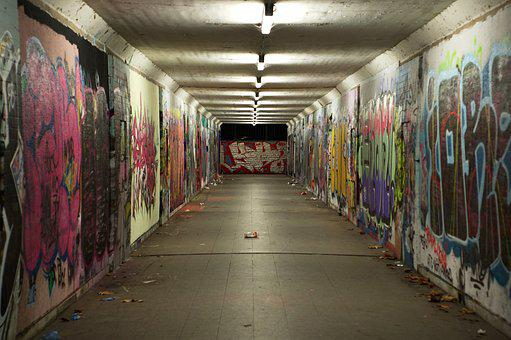 Underpass, Graffiti, Concrete, Mural, Youth, Spray, Art