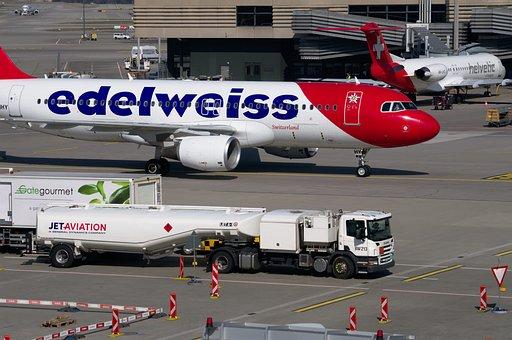 Edelweiss, Aircraft, Airbus, Airport Zurich, Airport