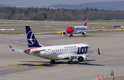 Lot, Aircraft, Embraer 170, Airport Zurich, Airport