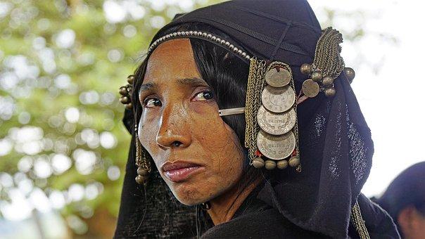 Laos, Akha, Tribewoman, Indigenous, Culture, Asia