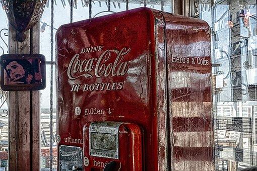 Cola, Coca Cola, Automatic, Logo, Drink, Lemonade