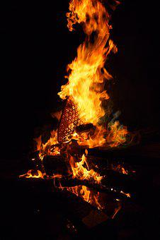 Fire, Campfire, Bonfire, Hot, Heat, Blaze, Warm, Cabin
