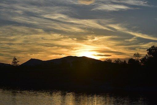 Sunset, Water, River, Mirror, Landscape, Cloud, Nature