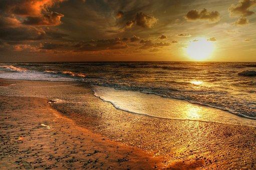 Denmark, Wave, Beach, Sea, Water, Coast, North Sea