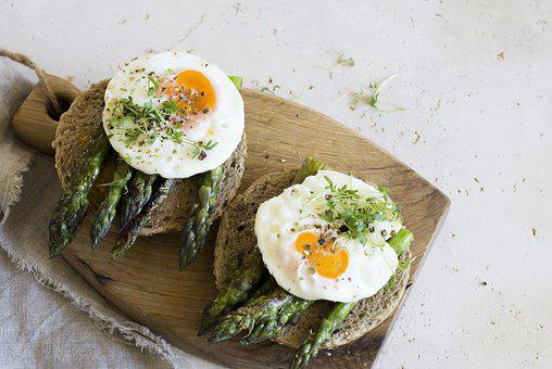 Asparagus, Egg, Breakfast, Appetizer, Eating, Food