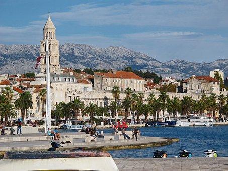 Split, Croatia, Easter Europe, Sea, Town, Europe