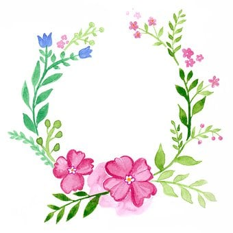 Wreath, Floral, Watercolour, Greeting Card