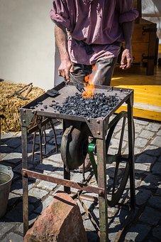 Blacksmith, Forge, Iron, Fire, Glow, Craft, Tool, Flame