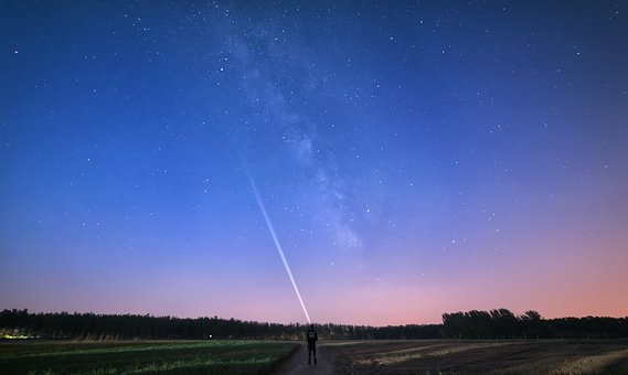 Starry Sky, The Milky Way, Stars, Night, Long Exposure