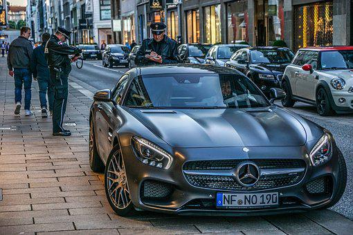 Auto, Mercedes, Hamburg, Luxury, Police, Elegant
