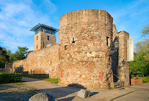 Darmstadt, Hesse, Germany, Old, City Wall, Old Town
