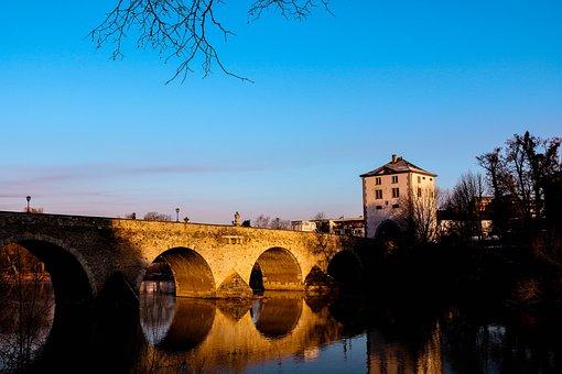 Limburg An Der Lahn, Lahn, Old Lahn Bridge, Hesse