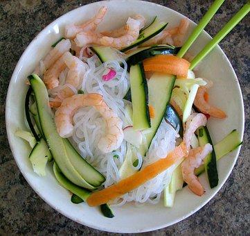 Ponzu, Noodle, Shirataki, Yam, Japanese, Zucchini