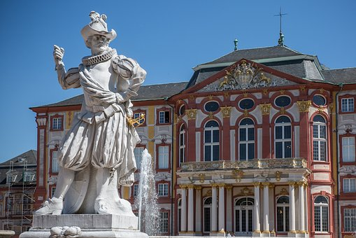 Bruchsal, Castle, Baroque, Historically, Sculpture