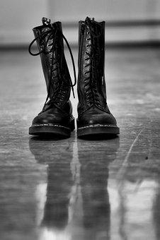 Boots, Shoes, Black, Dr, Martens, Foot, Style, Clothing