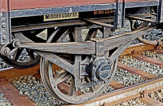 Railway, Wagon, Antique, Spoke Wheels, Country Track