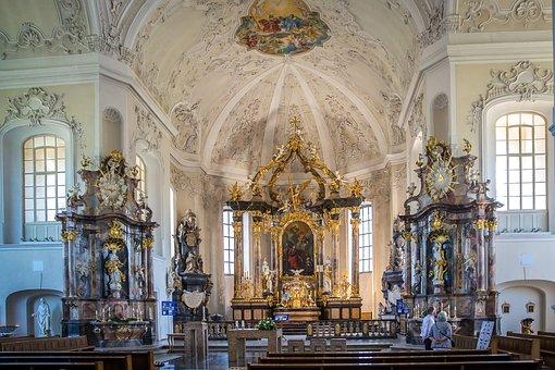 Bruchsal, St Peter's Church, St Peter, Baroque