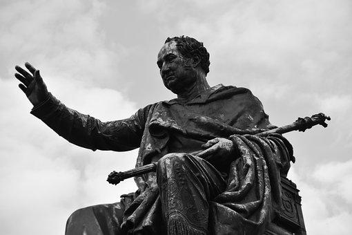 Ruler, Regent, Statue, Person, Man, Figure, Human