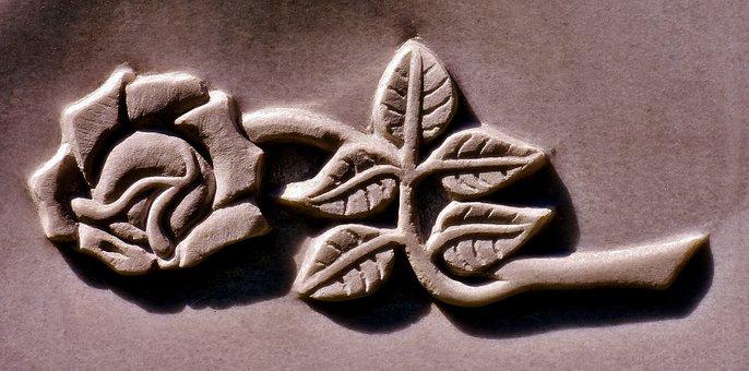 Rose, Stone, Art, Artwork, Sculpture, Stone Sculpture