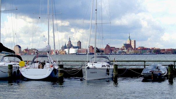 Rügen Island, Altefähr, Port, Stralsund, Rügen, Water