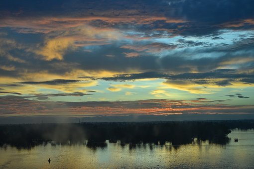Kerala, Alleppey, Dawn, Sunrise, Colours Of Kerala