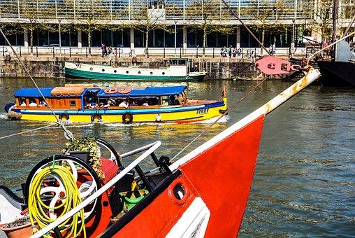 Bristol, Harbour, Boat, England, Uk, Water, Britain
