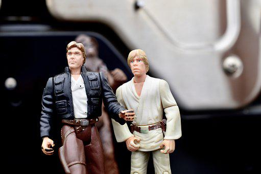 Star Wars, Han Solo, Luke Skywalker, Action Figures