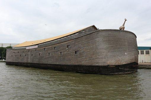 Ark, Rotterdam, Ship, Giraffe, Archenoah