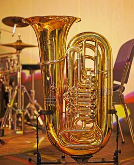 Tuba, Drums, Jazz, Session, Break, Band, Music