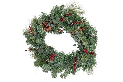 Christmas, Wreath, Christmas Wreath, Door Wreath