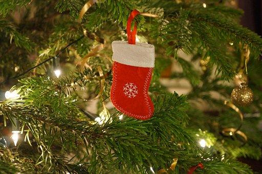 Christmas, Stocking, Tree, Xmas, Decoration, Ornaments
