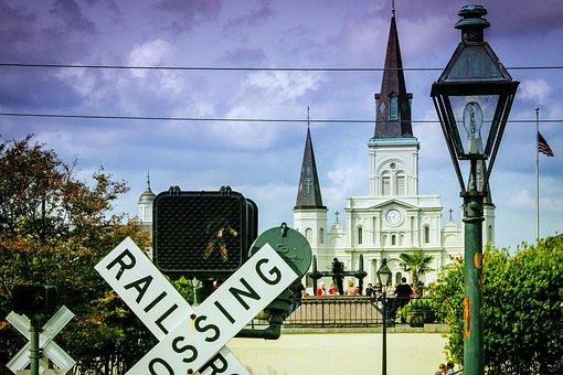 Railroad, French Quarter, New Orleans, Church