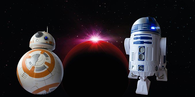 Disney, Bb8-droid, Droid, R2d2, Robot, Cosmos, Space