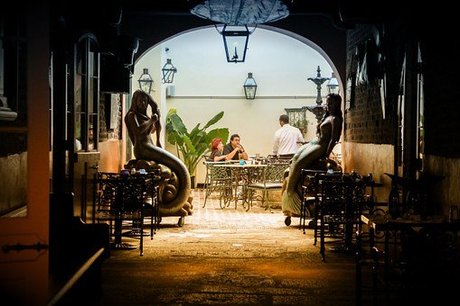 French Quarter, New Orleans, Dinner, Couple, Pub