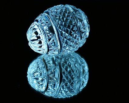 Egg, Crystal Egg, Cut Glass, Fabergé Egg