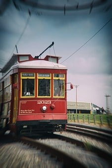 Train, New Orleans, French Quarter, Transportation