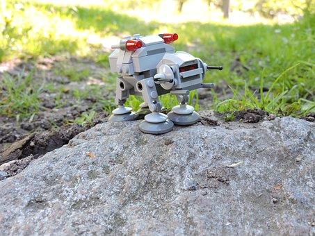 Star Wars, Lego, Toys, At At, Gint Robot