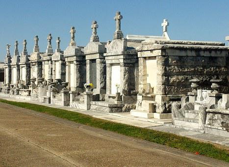 Cemetery, Crypts, Graves, Tombstone, New Orleans