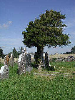 Cemetery, Graves, Old, Gallen, Ferbane, Offaly, Ireland