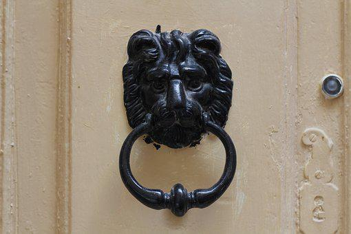 Door, Knocker, Lion, Head
