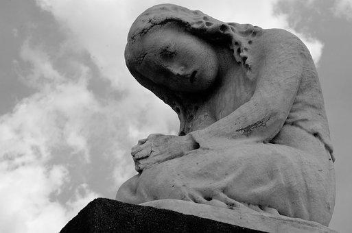 Statue, Praying, Kneeling, New Orleans, Cemetery