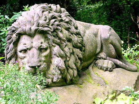 Stone Figure, Stone Lion, Lion, Sculpture, Fig, Stone