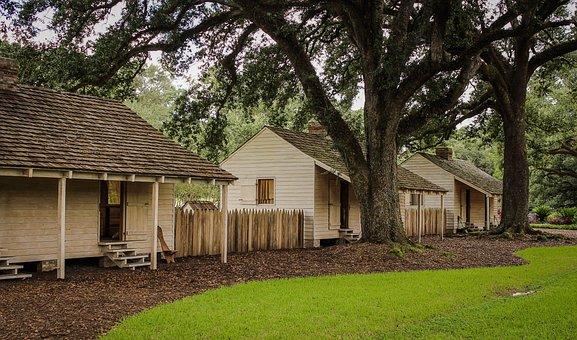 Slave Cabins, Oak Alley Plantation, Louisiana