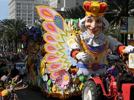 Mardi, Grass, New Orleans, French Quarter, Parade