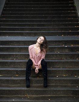 Model, Photo Shoot, Black And White, Fashion, Studio