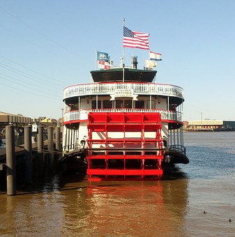 Paddle Steamer, Steamship, Mississippi, New Orleans