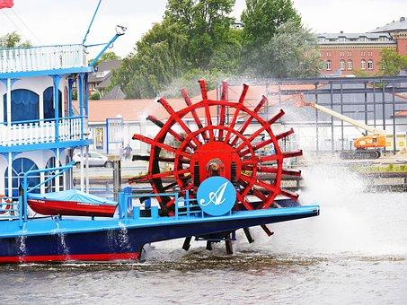 Paddle Wheel, Mississippi Steamer, Louisiana Star
