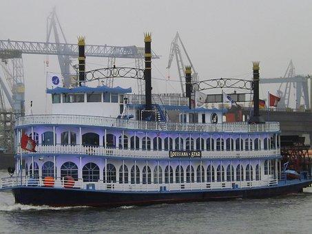 Louisiana Star, Passenger Ship, Paddle Steamer
