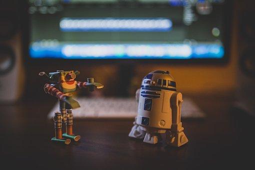 R2d2, Star Wars, Toys, Paper Robot, Origami, Desk